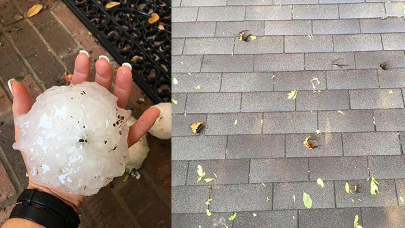 Hail damage in Wylie Texas by Mary Ann Olson and Wes Stephens via Weather Channel