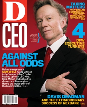 Sam Wyly on D CEO magazine cover