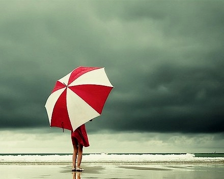 By-the-boardwalk-3-rainy-day-red-umbrella-beach-via-tinydaisies