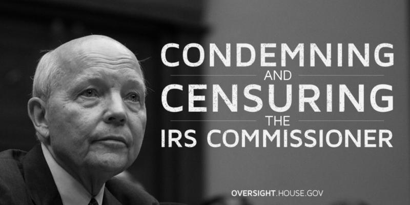 Censure-of-IRS-Koskinen-Oversight-061516
