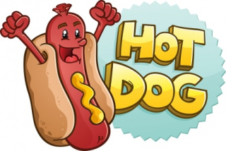 Hot dog drawing