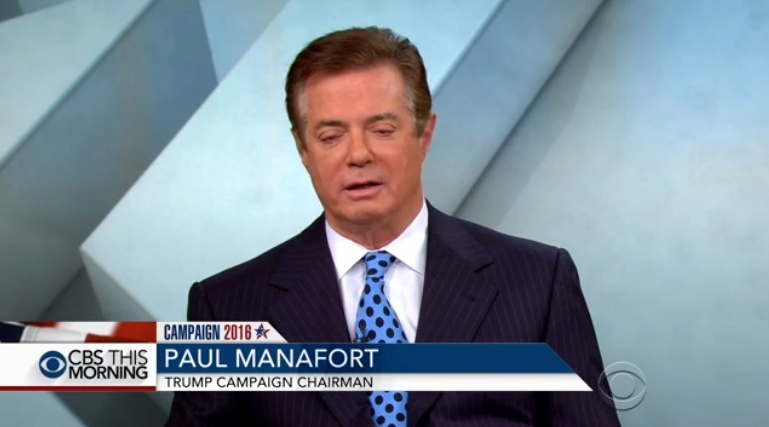 Paul Manafort Trump campaign manager on CBS This Morning 072716
