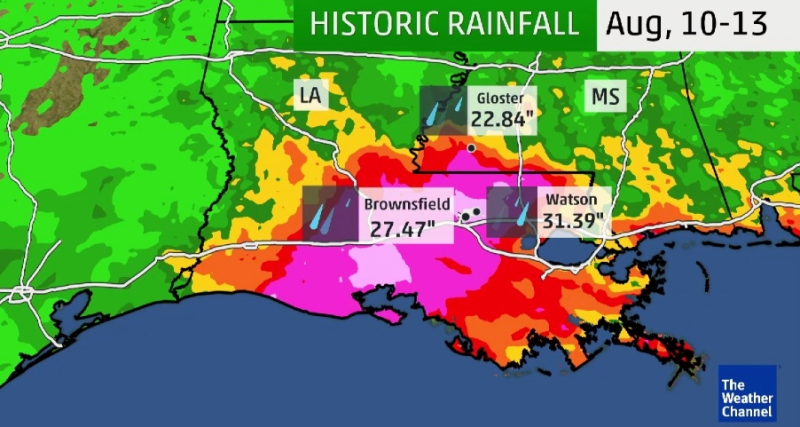 Louisiana historic August 2016 rains_The Weather Channel