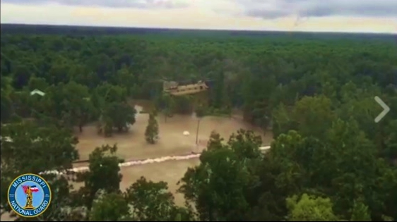 Mississippi Narional Guard airlifting supplies to flooded neighbor Louisiana