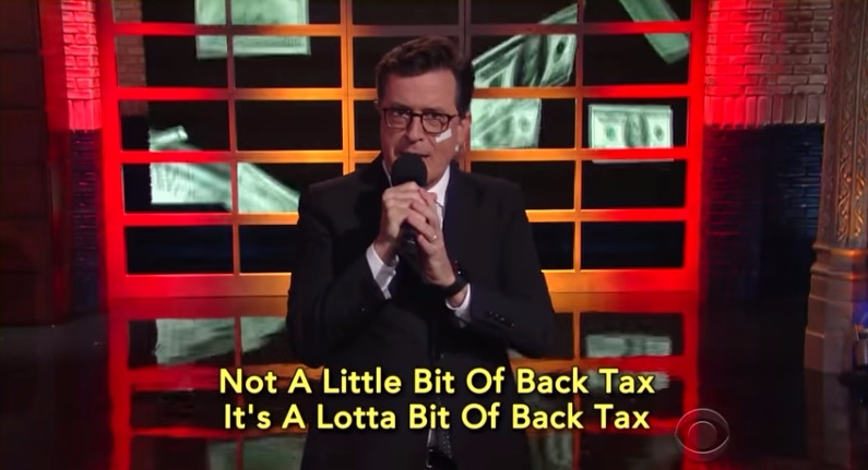 Stephen Colbert revised Nelly song Debt in Herre