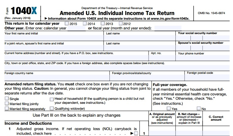 Made A Tax Filing Mistake Fix It With 1040x Dont Mess With Taxes