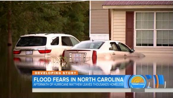 North Carolina flooding following Hurricane Matthew_NBC News screenshot