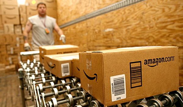 Amazon distribution center worker