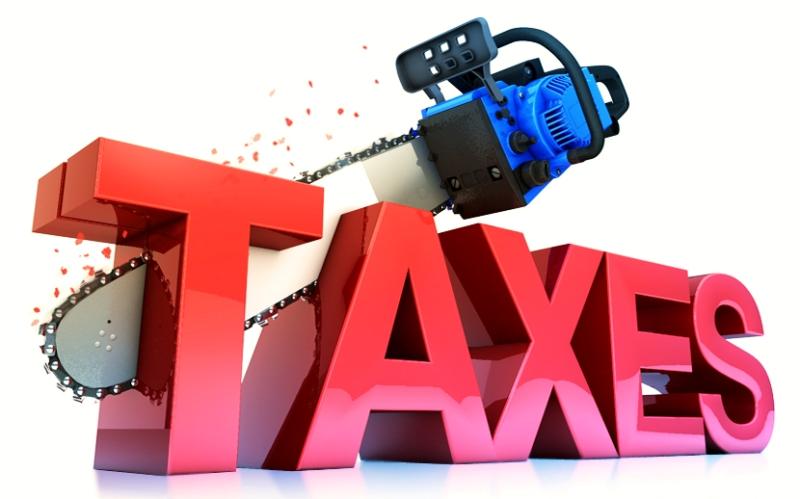 Cutting taxes chainsaw