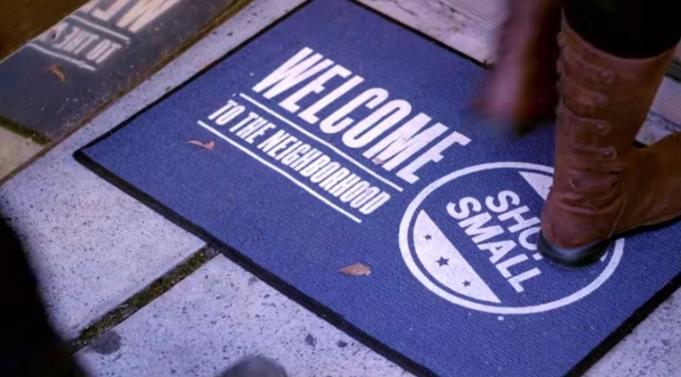 Small Business Saturday store welcome mat