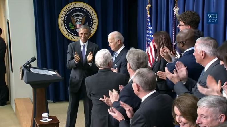 VP Joe Biden_center_recognized at 21st Century Cures Act signing Dec 13 2016