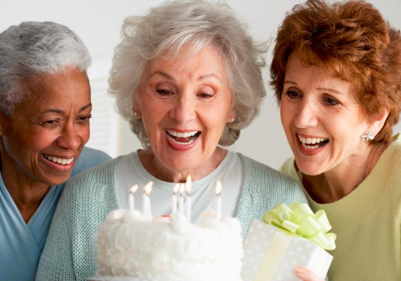 Senior women birthday celebration via Todays Senior Network