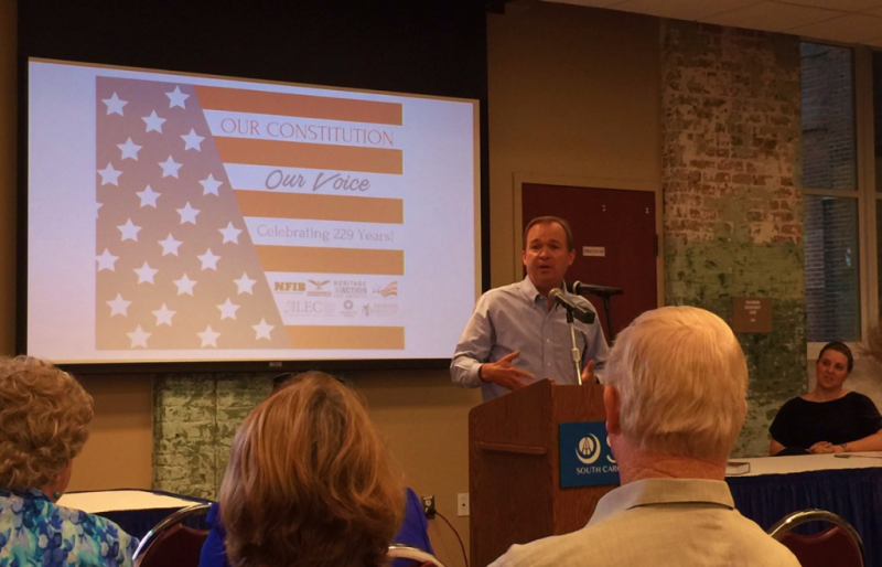 Mick Mulvaney R-SC speaks at Constitution Day event 10Sept2016_Twitter at ErikBCorcoran