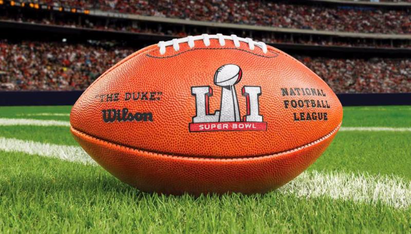 Super Bowl LI football on field 1360x775