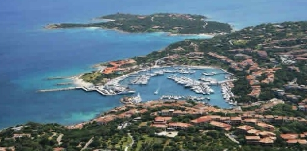 A harbor and beach along Sardinia Emeral Coast