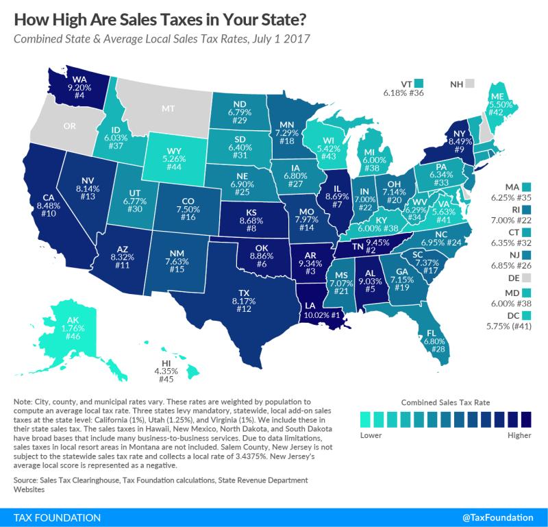 SALT midyear rates 2017_Tax Foundation
