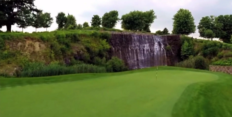Trump Westminster NY golf course waterfall 13th hole