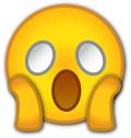 Panic emoji a la Munch