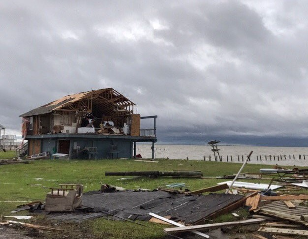 Rockport Texas  damage-home_National Weather Service Corpus Christi via Twitter