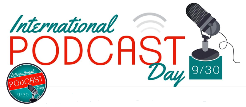 International Podcast Day Twitter feed image; click to visit