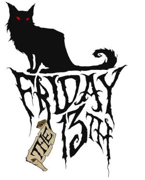 Friday the 13th black cat_Little Gothic Horrors via Pinterest