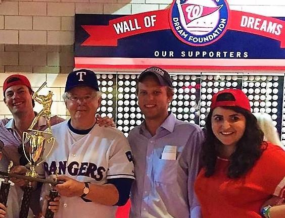 Texas Rep Joe Barton as victorious manager of GOP Congressional Baseball Team 2016