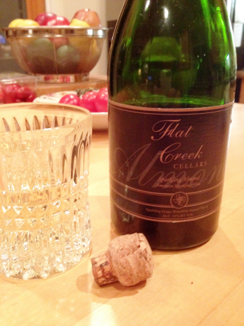 Flat Creek sparkling wine for New Year toasts; click image to learn more about the winery