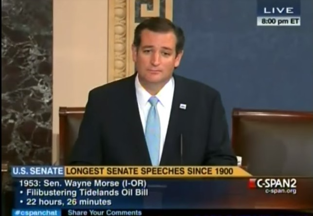 Ted Cruz filibusters by reading Green Eggs and Ham