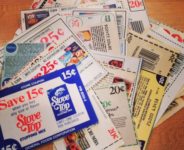 Old grocery coupons