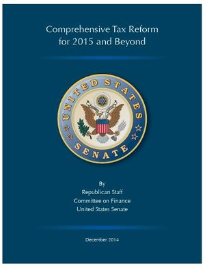Senate Finance Committee analysis of tax reform December 2014 Hatch