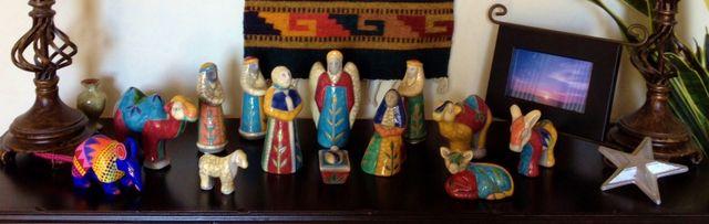 Texas Raku Nativity Scene 2014
