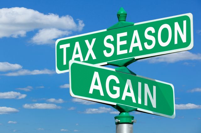Tax season road signs