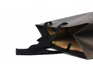 Empty-black-shopping-bag