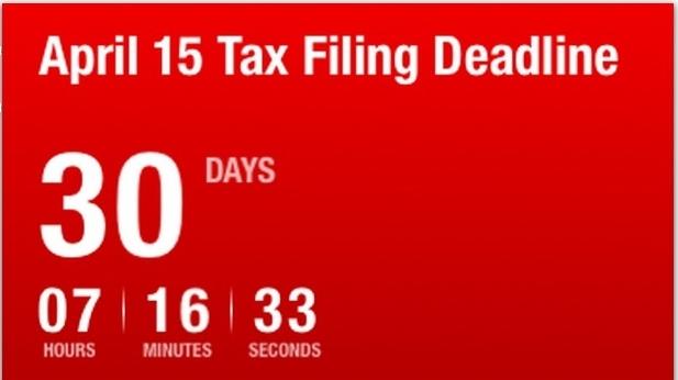 Tax countdown clock screen shot-2