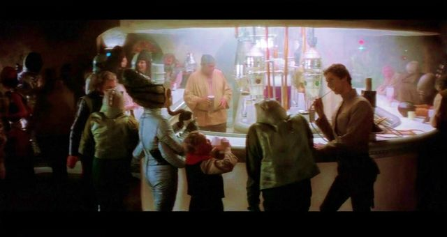 Mos Eisley Cantina scene in Star Wars 1977 original