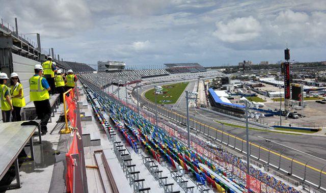 Construction crew at Daytona Speedway_Kickin the Tires with Jerry Jordan
