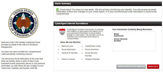 CSID ID Monitoring Portal OMP breach