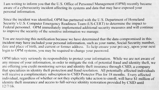 OPM hack letter to moi 2015