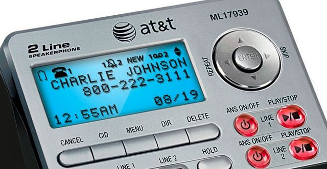 Caller ID on telephone