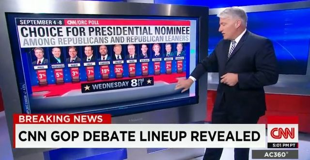 Line-up for GOP presidential debate #2 on CNN Sept 16 2015