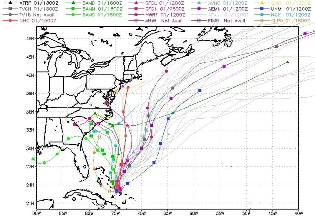 Hurricane Joaquin SFWMD spaghetti runs 100115 afternoon