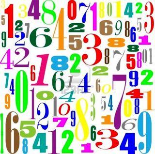 Numbers via 123BF