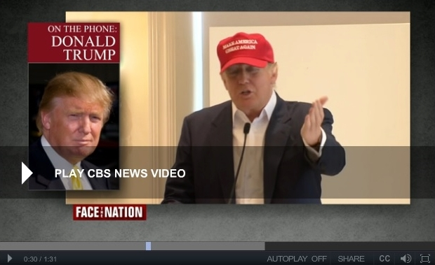 Donald Trump talks tax strategy CBS Face the Nation 080215