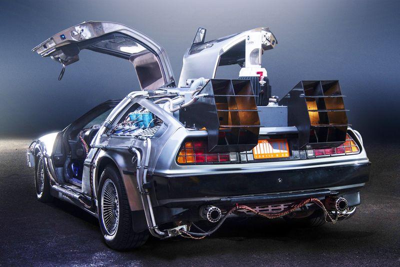 Back to the Future DeLorean Time Machine by Terabass via Wikimedia