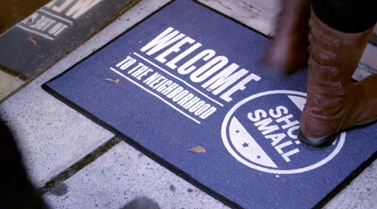 Small Business Saturday welcome mat