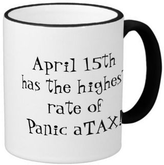 Panic atax coffee mug right handle