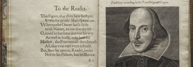 Shakespeare First Folio title page_Folger Shakespeare Library