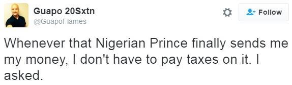 Nigerian prince money tax free_FakeTaxFacts-GuapoFlames