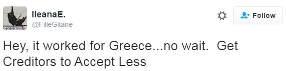 Trump debt plan Greece comparison