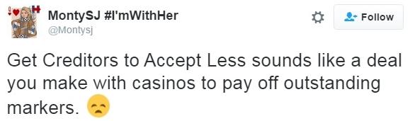 Trump debt plan casino debts